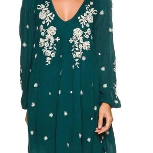Free People Embroidered Dress - Size Small